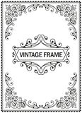 装饰框架葡萄酒 库存照片