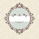 装饰框架葡萄酒 免版税库存照片