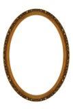 装饰框架金子长圆形 库存照片