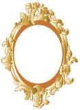 装饰框架金子 库存图片