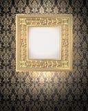 装饰框架金子 免版税库存照片