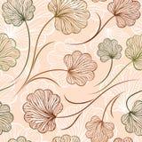 装饰植物的传染媒介无缝的样式 免版税库存照片