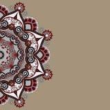 装饰模板有圈子花卉背景 免版税库存图片