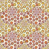 装饰橙色样式 传染媒介秋天圆点背景 免版税库存图片