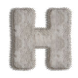 装饰毛皮信件H 库存照片