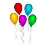 装饰气球集合 免版税图库摄影