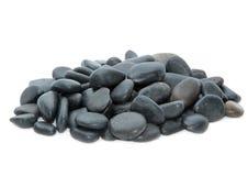 装饰水族馆鱼缸的自然河小卵石石头 库存照片