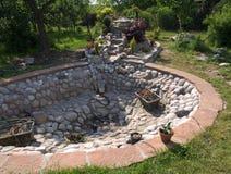 装饰池塘 库存照片