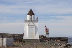 装饰灯塔,纽芬兰 图库摄影
