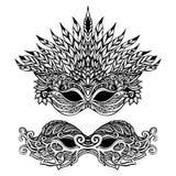 装饰狂欢节面具 皇族释放例证
