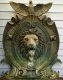 装饰狮子喷泉 免版税库存图片