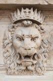 装饰狮子的头 库存照片