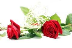 装饰玫瑰色表婚礼 免版税库存照片