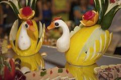 装饰用水果和蔬菜 图库摄影