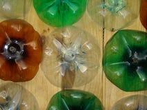 装饰由塑料瓶制成 免版税图库摄影