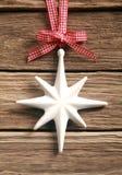 装饰白色圣诞节星 图库摄影