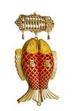 装饰的东方春节孪生鱼装饰品 免版税图库摄影