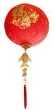 装饰的东方春节装饰品在白色后面 免版税图库摄影
