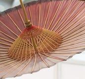 装饰的亚洲伞细节手工制造 图库摄影