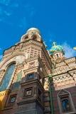 装饰的俄国教会 库存图片