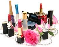 装饰的化妆用品 免版税图库摄影