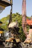装饰的印度寺庙,努沙Penida,印度尼西亚 免版税图库摄影