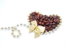 装饰的咖啡 免版税库存图片