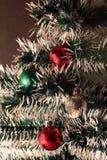 装饰的圣诞树特写镜头  库存图片