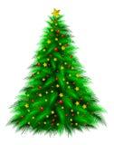 装饰的圣诞树 皇族释放例证