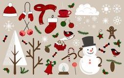 装饰的圣诞节象 库存例证