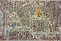 装饰的地板-故宫,北京,中国 库存照片