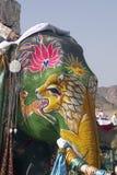 装饰的大象印地安人 免版税库存图片