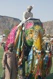 装饰的大象印地安人 免版税库存照片