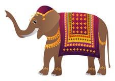 装饰的大象印地安人 库存例证