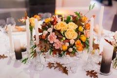 装饰的婚礼桌 库存图片