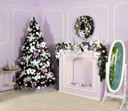 装饰的家庭娱乐室 库存图片