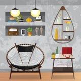 装饰的小客厅 免版税图库摄影