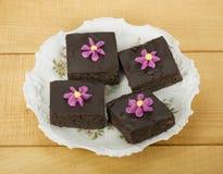 装饰的巧克力果仁巧克力 库存图片
