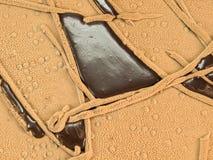 装饰的抽象蛋糕巧克力 免版税库存图片