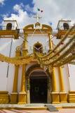 装饰的教会在墨西哥 免版税库存照片