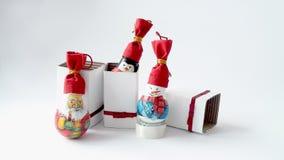 装饰的新年灯 免版税库存照片
