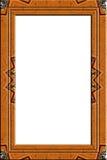 装饰的框架纵向木头 库存照片