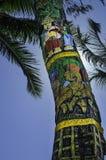 装饰的椰子树 免版税库存照片