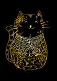 装饰的猫例证乱画 图库摄影