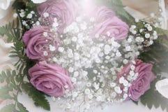装饰的玫瑰花束  图库摄影