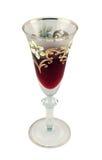 装饰的玻璃酒 图库摄影
