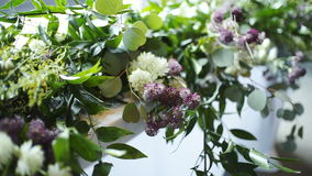 装饰的珍珠玫瑰表婚礼 股票录像