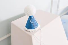 装饰的第1为一个生日 愉快的一年 免版税库存图片
