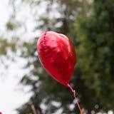 装饰的红色气球心脏 库存照片