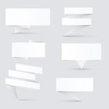 装饰的纸横幅 免版税库存图片